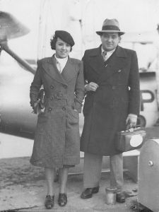 Mario and his wife in Porto Alegre, 1934